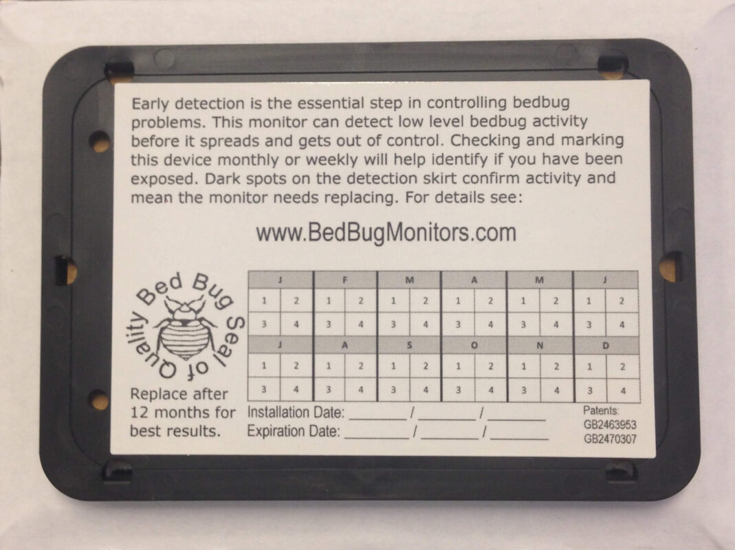 Passive Bed Bug Monitor an Early detection of bed bugs with our Bed Bug Passive Monitors by Bed Bugs Limited