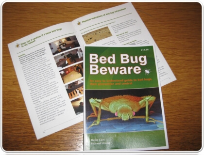 bed bug beware information book by Bed Bugs Limited of London